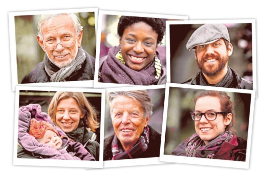 Auch Uwe Hoffmann, Melissa Pereira, Dave Hutmacher, Berit Koch, Rolf Kowsky und Margarete Olrogge (im Uhrzeigersinn) verraten uns, wovon sie träumen. Alle Antworten lesen Sie in der Fotostrecke. Foto: Lichtgut/Achim Zweygarth