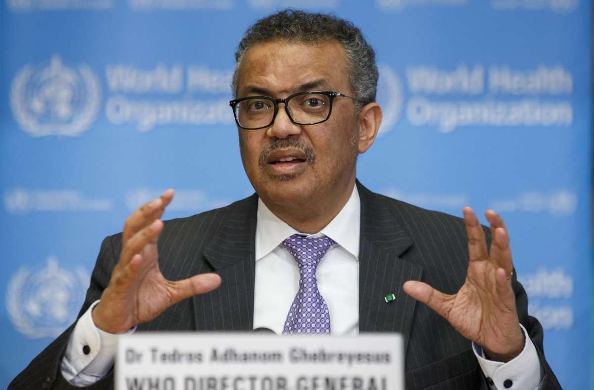 WHO-Generaldirektor Tedros Adhanom Ghebreyesus. Foto: dpa/Salvatore Di Nolfi