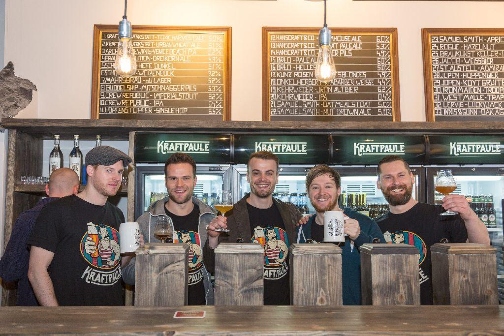 Wir haben uns im neuen Craft-Beer-Laden Kraftpaule umgesehen. Die folgenden Bilder entstanden bei der Eröffnung am 19. März 2016. Foto: www.7aktuell.de   Frank Herlinger
