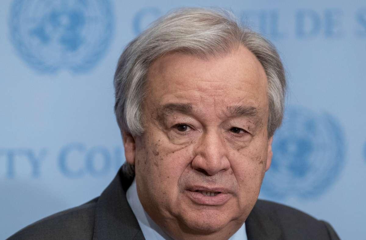 António Guterres strebt eine zweite Amtszeit als UN-Generalsekretär an. Foto: dpa/Mark Garten
