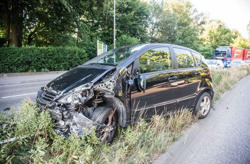 Zwei heftige  Unfälle auf B 313
