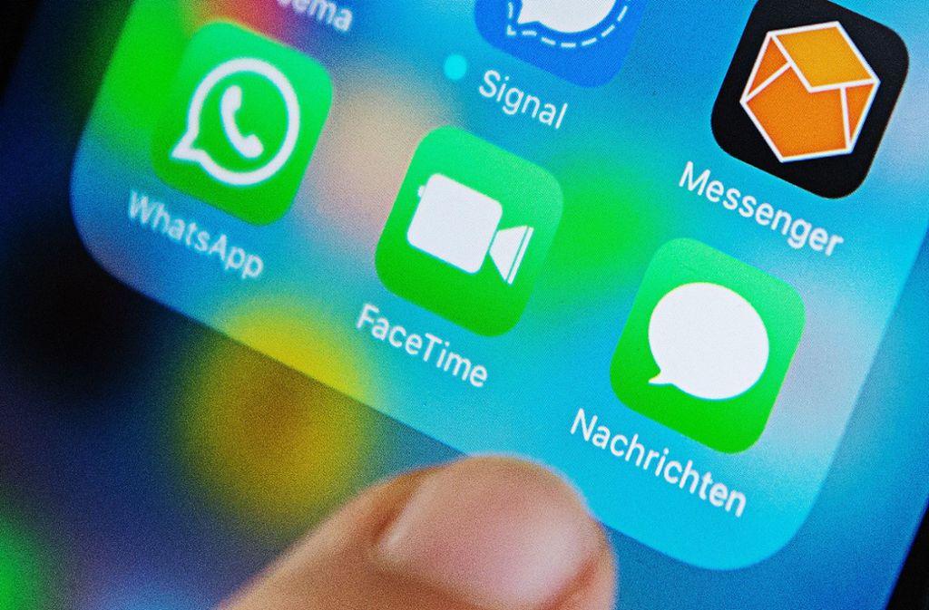 Moderne Messenger-Dienste verschlüsseln die Nachrichten – das machen sich Verbrecher zu Nutze. Foto: dpa