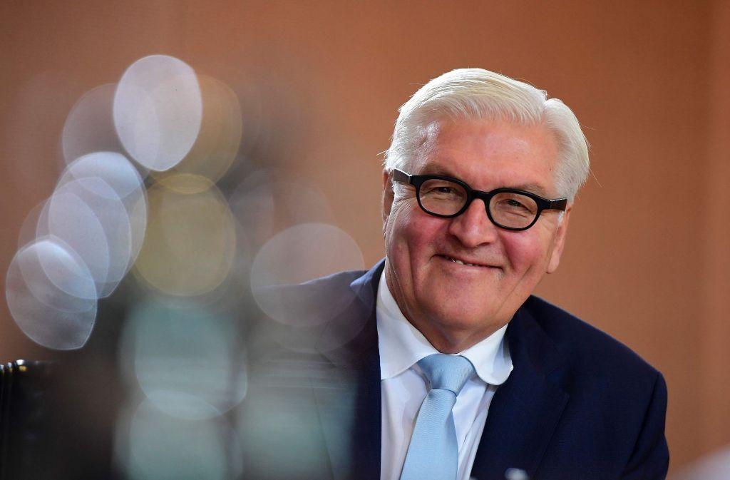 Besonnen und fleißig: der SPD-Politiker Frank-Walter Steinmeier soll Bundespräsident werden. Foto: AFP