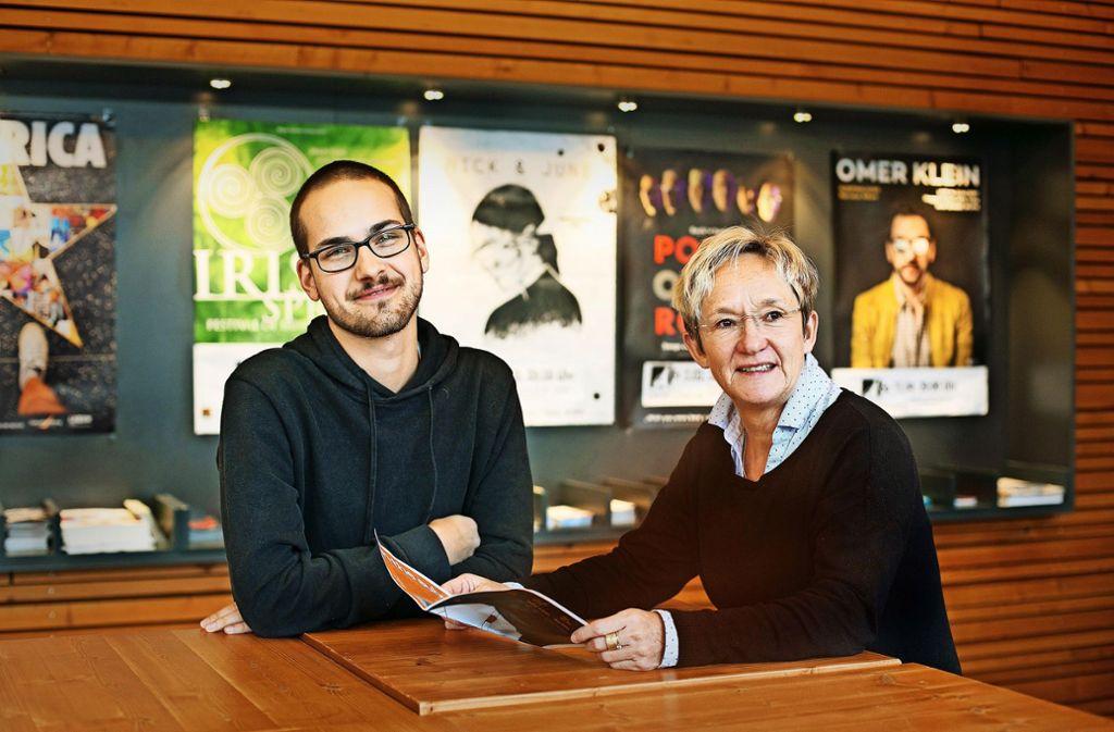 Matthias Fugel und die Geschäftsführerin der Dieselstraße, Sabine Bartsch, wollen für ihr Projekt mit anderenJugendkultureinrichtungen kooperieren. Foto: Horst Rudel