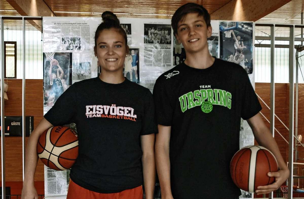 In diesem Sommer wohl beide für Deutschland am Ball: Luisa  und Anton Nufer, 18 und 15 Jahre alt. Foto: privat/z