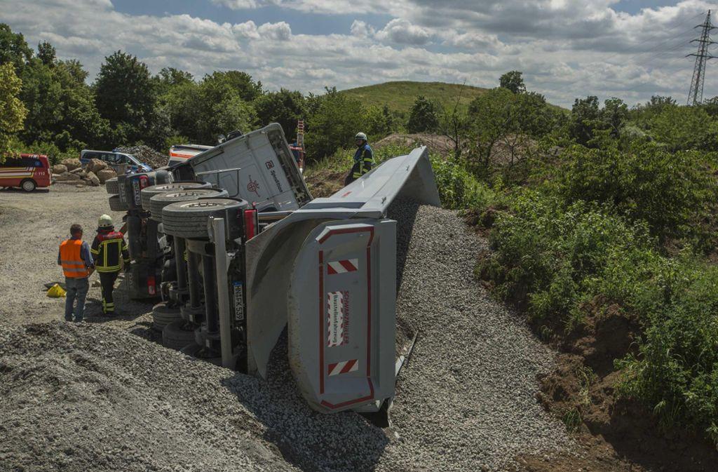 Der Unfall ereignete sich auf einer Baustelle an der Bundesstraße. Foto: 7aktuell.de/Simon Adomat