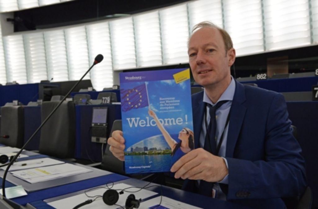 Martin Sonneborn sitzt seit einem Jahr im Europaparlament. Foto: EPA