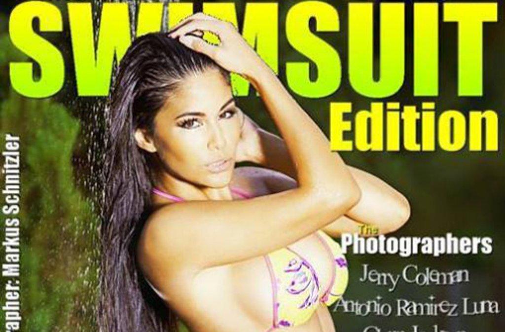 Mia Gray ist noch voll und ganz auf Sommer eingestellt: Das Esslinger Playmate ist nun auf der Titelseite des australischen Bademoden-Magazins Australian Swimsuit Edition zu sehen - wir haben die Bilder. Foto: Oliver Burghart Management