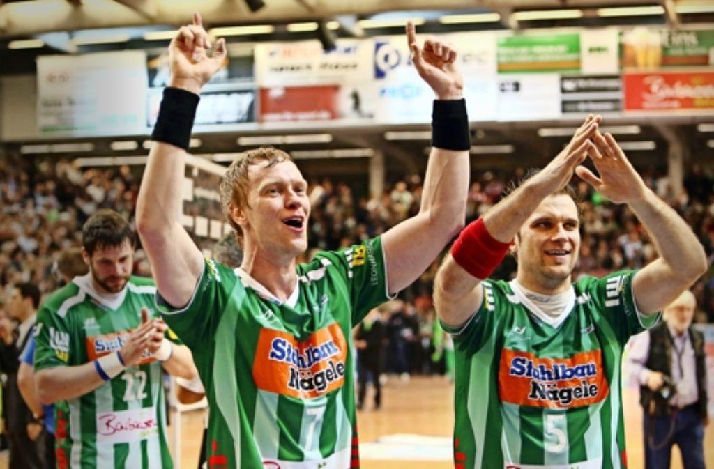 Frisch-Auf-Urgesteine: Christian Schöne (links) und Dragos Oprea Foto: Baumann