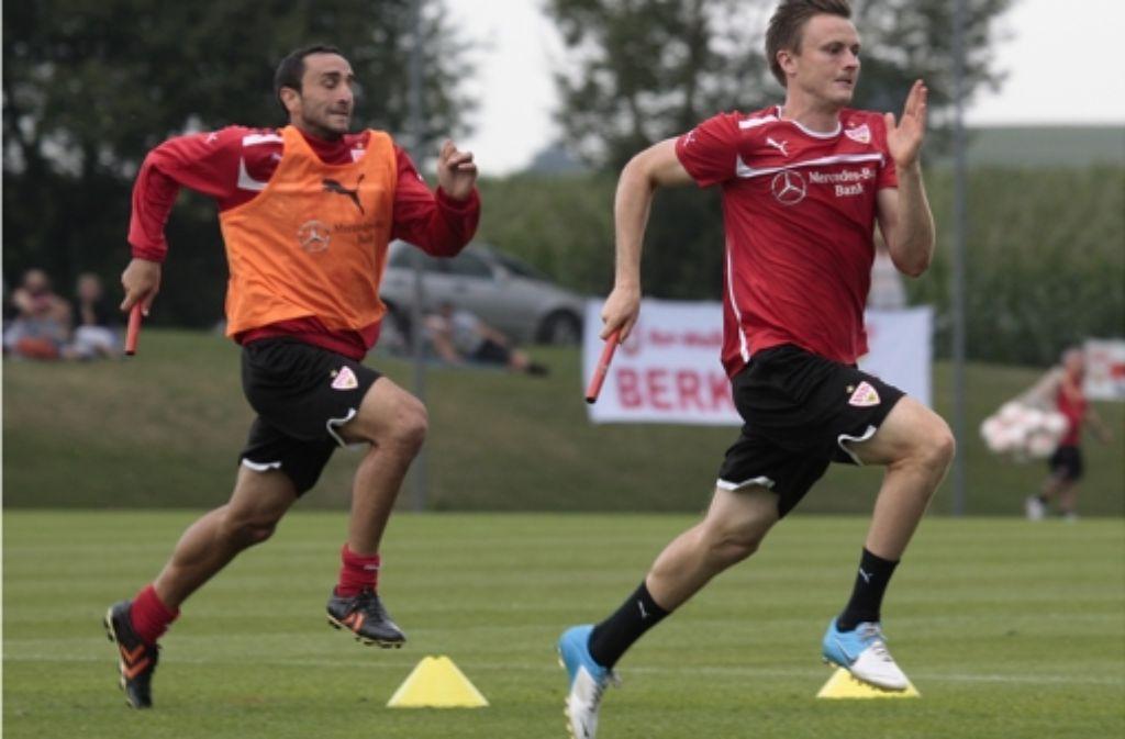Cristian Molinaro und William Kvist verlassen den VfB Stuttgart Richtung Italien und England. Foto: Pressefoto Baumann