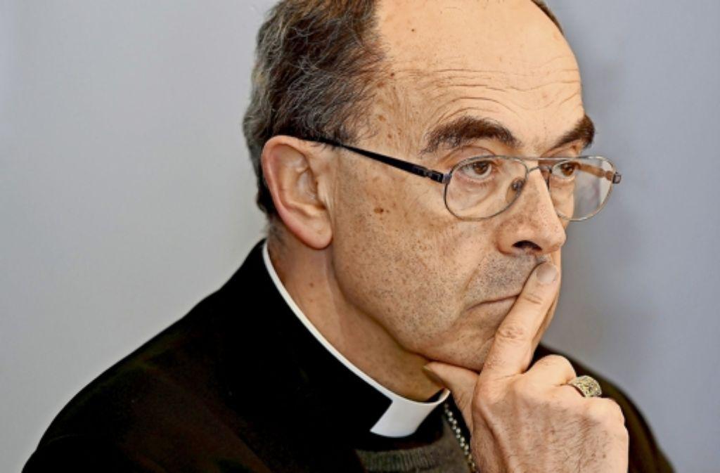 Kardinal Philippe Barbarin vermutet politische Motive der Regierung. Foto: AFP