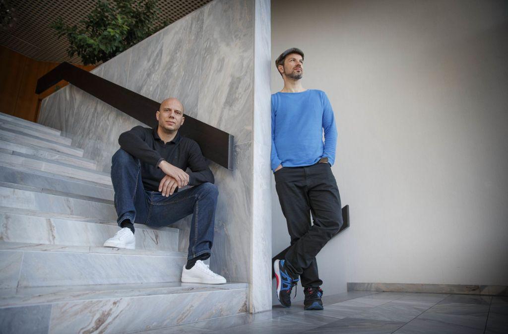 Wirtschaftserklärer aus dem Remstal:  Matthias Weik (li.) und Marc Friedrich Foto: Gottfried Stoppel