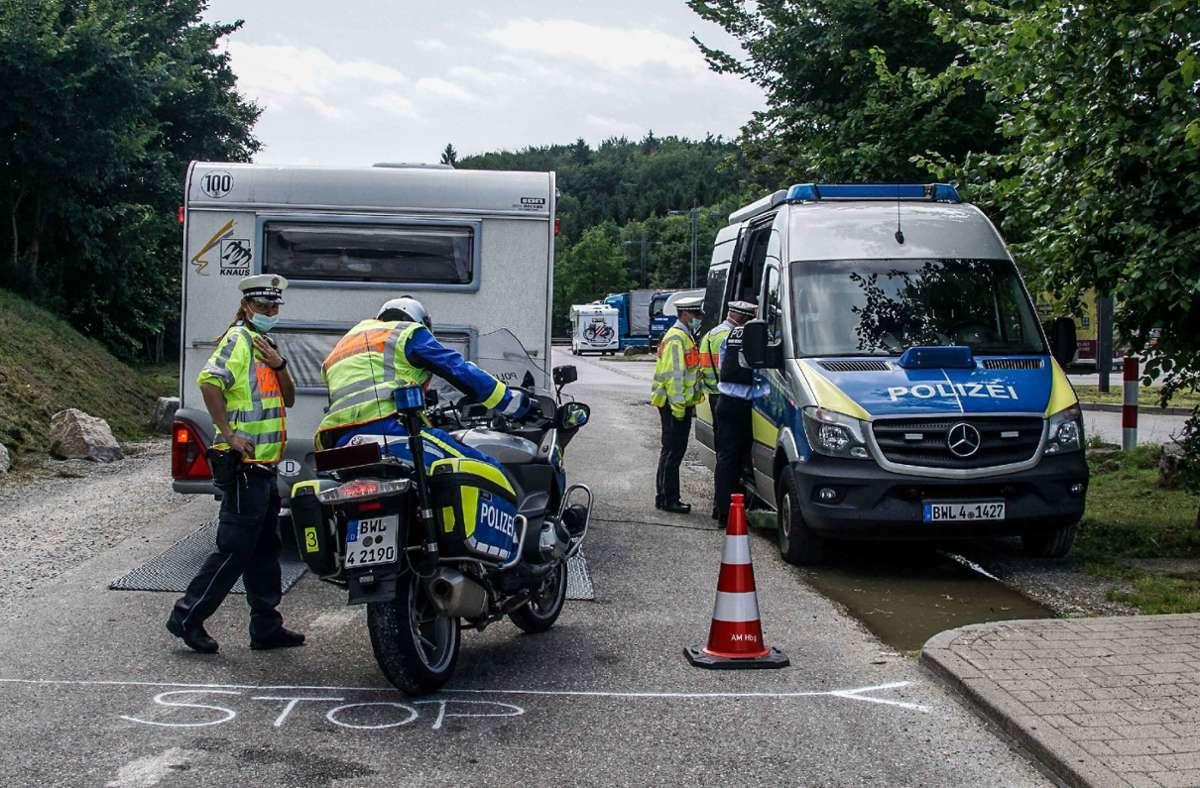 Wohnwagenkontrolle am Sindelfinger Wald: Mehr zu Information, weniger als Sanktion. Foto: SDMG/Dettenmeyer