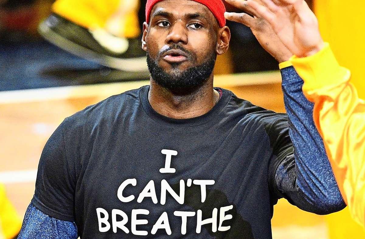 Gibt dem Protest nicht nur eine Stimme: LeBron James. Foto: imago/UPI Photo