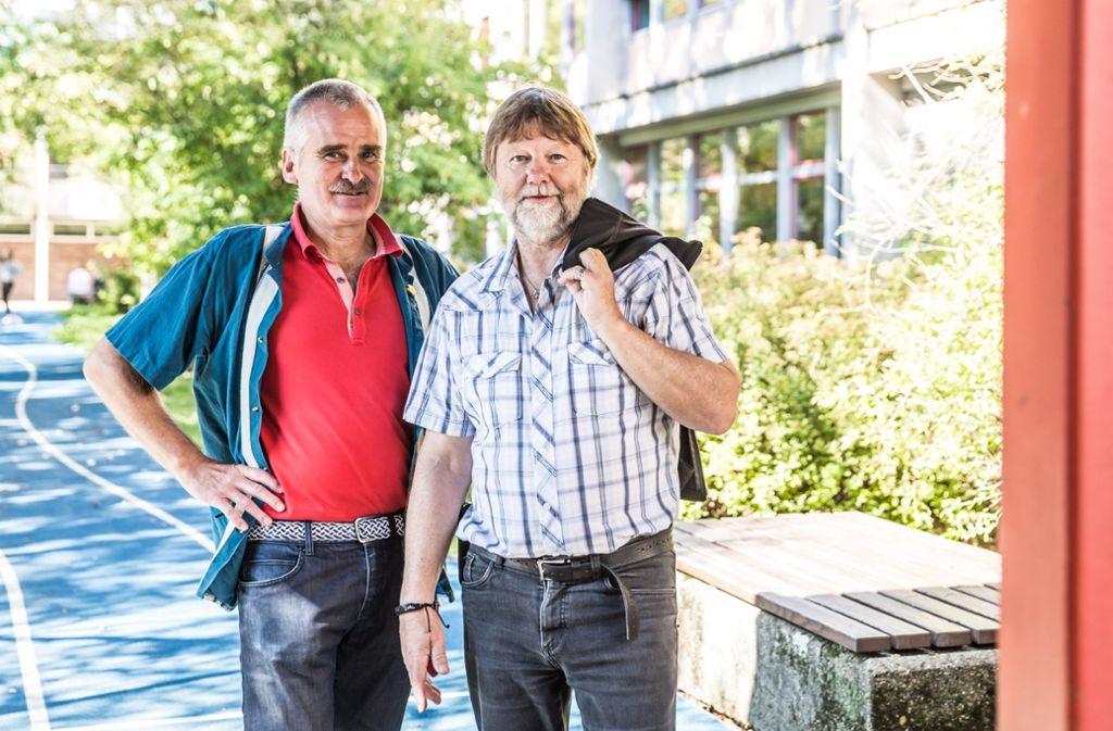 Georg Appel und Michael Mattig-Gerlach vertreten die Eltern von Gymnasiasten im Regierungsbezirk Stuttgart. Foto: Lichtgut/Julian Rettig