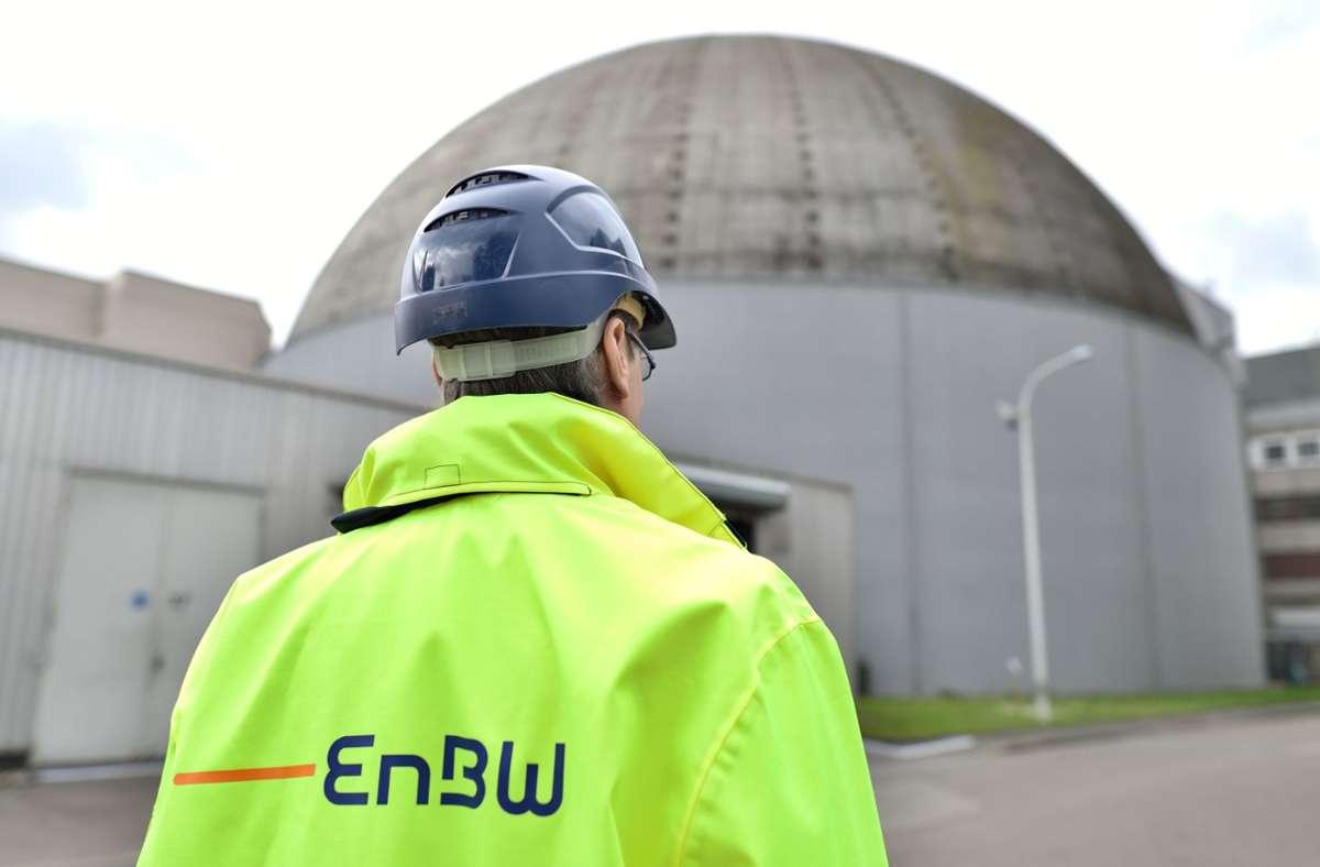 Das Archivfoto zeigt das Atomkraftwerk des Energiekonzerns EnBW in Obrigheim in Baden-Württemberg. (Archivbild) Foto: dpa/Uwe Anspach