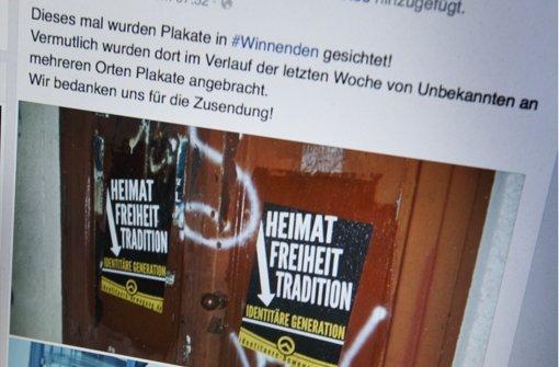 Slogans der Identitären Bewegung tauchen derzeit immer wieder im Rems-Murr-Kreis auf – wie auch in sozialen Netzwerken. Foto: Gottfried Stoppel