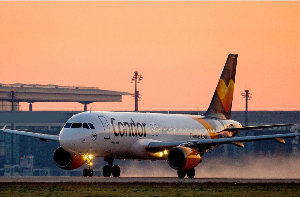 Sicher gelandet: Auch der A320, der am 15. August von Hurghada nach Stuttgart unterwegs war, kam sicher ans Ziel. In der Luft gab es allerdings Probleme. Foto: dpa / Patrick Pleul