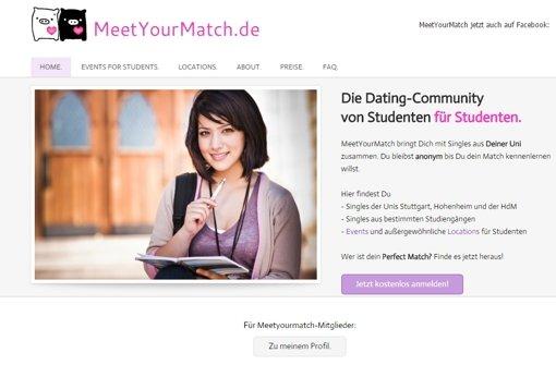 Seit Mai gibt es eine Single-Börse an Stuttgarter Universitäten von Studenten für Studenten. Die Dating-Website will fachübergreifend Hilfestellung bei der Partnersuche leisten. Foto: MeetYourMatch.de