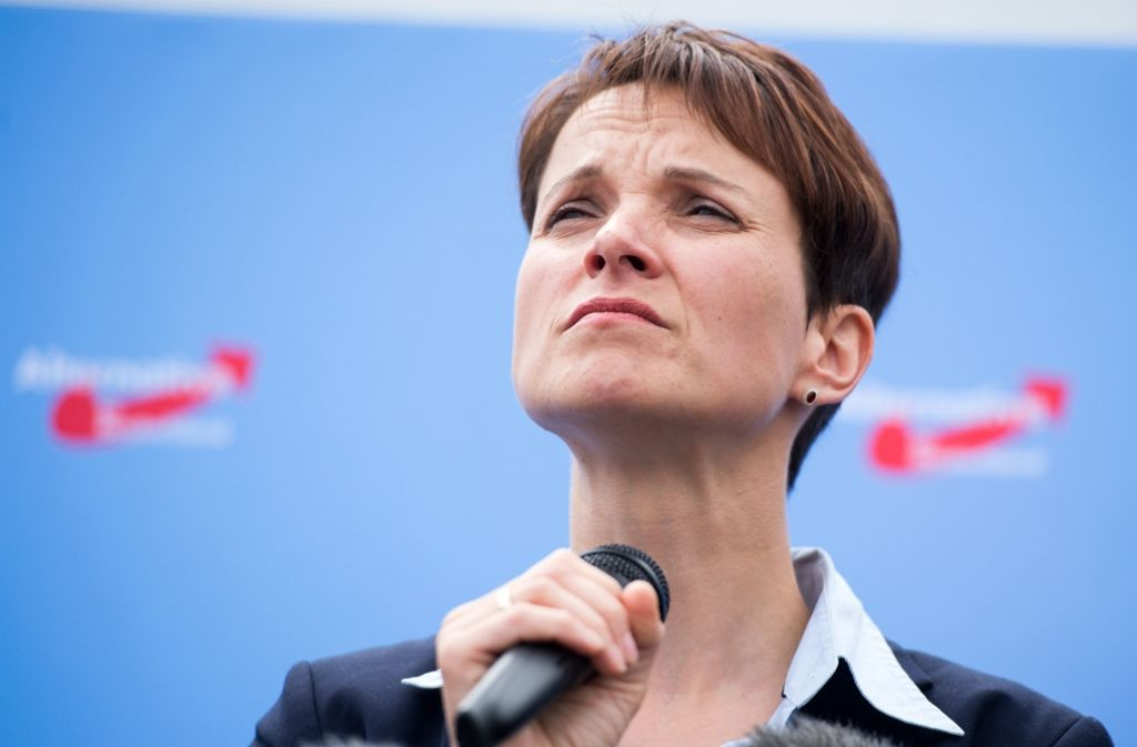 AfD-Vorsitzende Frauke Petry erntet mit ihren Äußerungen mal wieder Kritik. Foto: dpa
