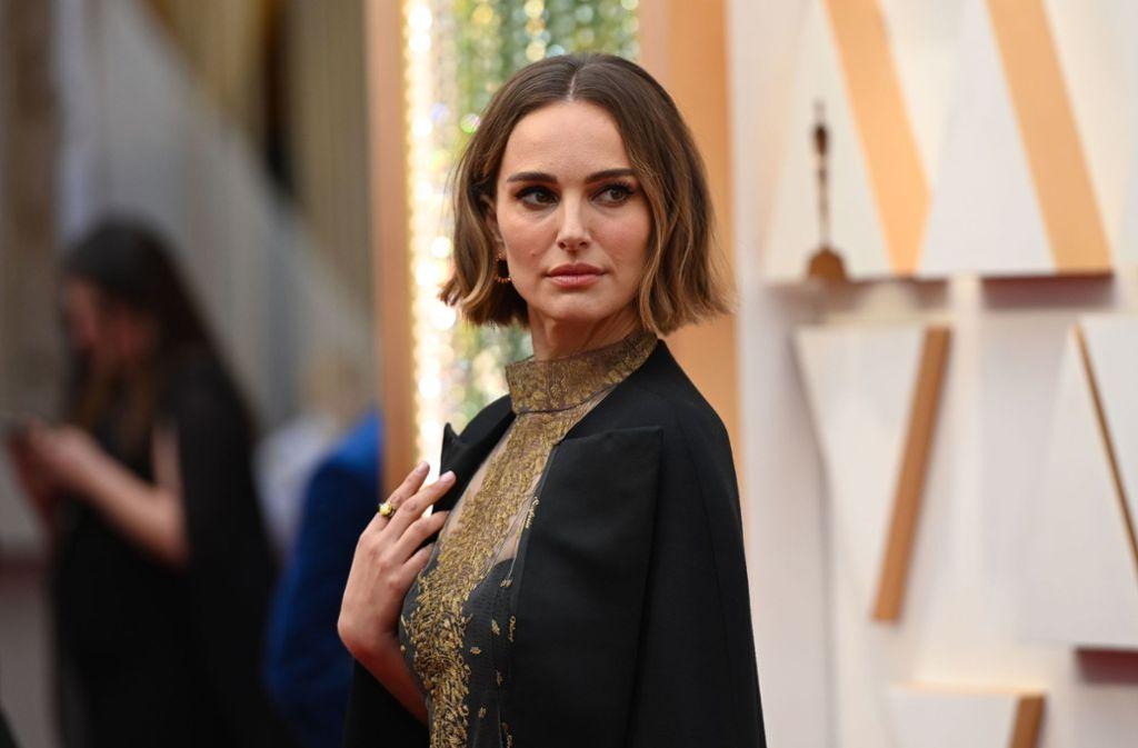 Natalie Portman sah bei den Oscars nicht nur gut aus – ihr Kleid sendete eine Botschaft. Foto: AFP/ROBYN BECK