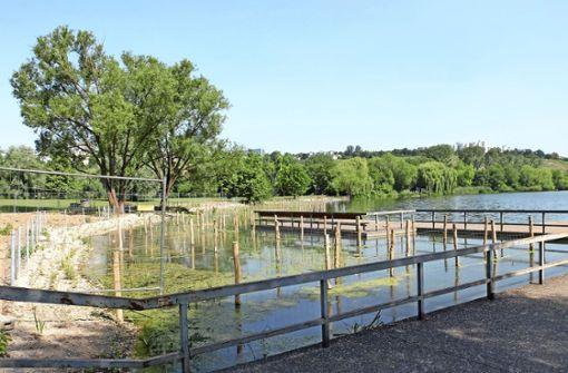 Flachwasserzone für den Max-Eyth-See  fertiggestellt