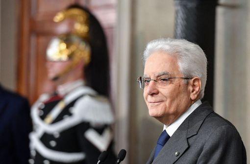 Italiens Präsident wird ungeduldig