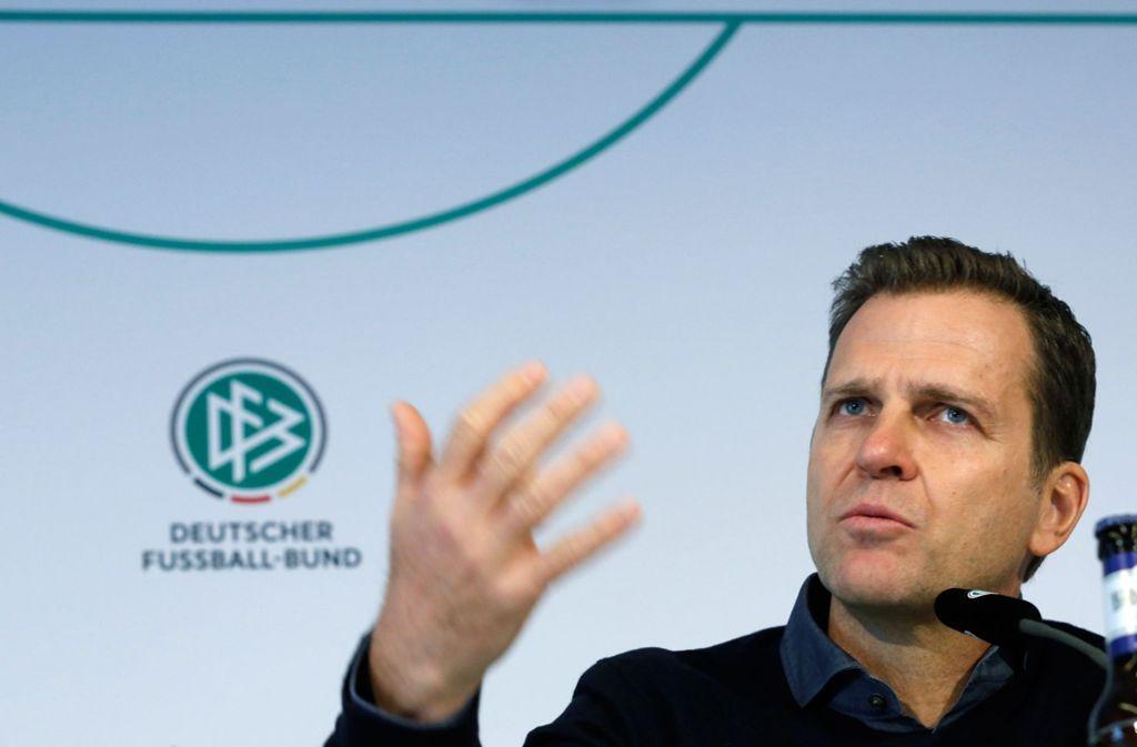 Oliver Bierhoff hat einen ganz eigenen Weg gewählt, das deutsche WM-Debakel zu erklären. Foto: dpa
