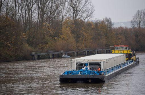 Fünfter Castor-Transport auf dem Neckar gestartet
