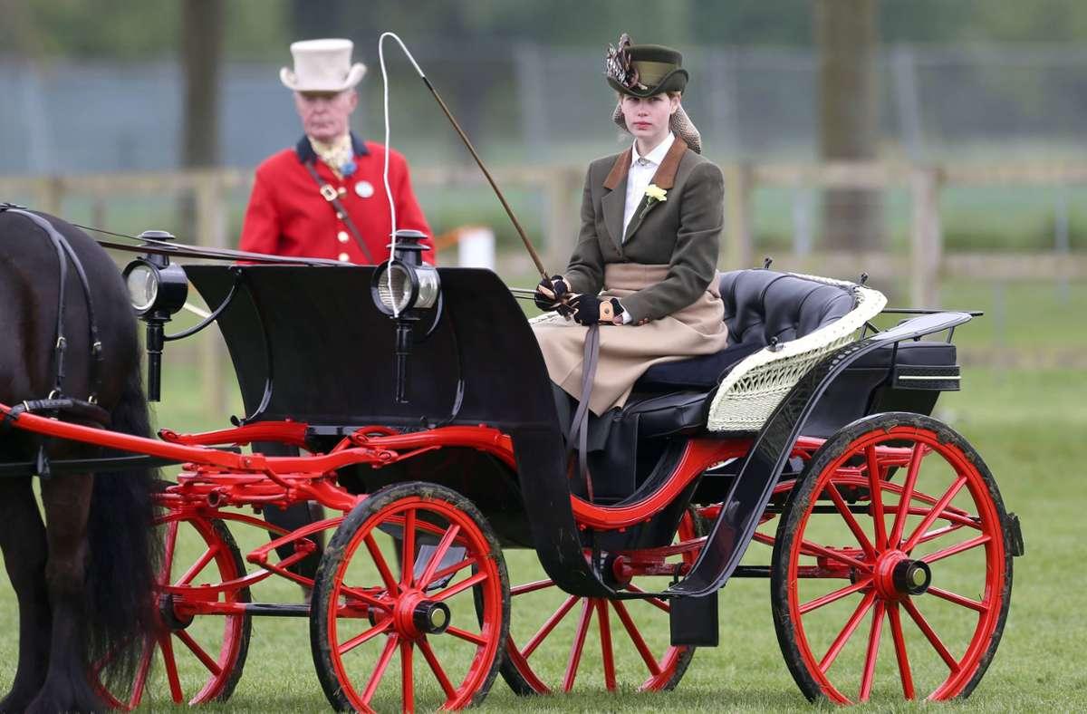 Lady Louise in einer Kutsche bei der Royal Windsor Horse Show (Archivfoto). Foto: imago images / Matrix/TREVOR ADAMS / MATRIXPICTURES.CO.UK