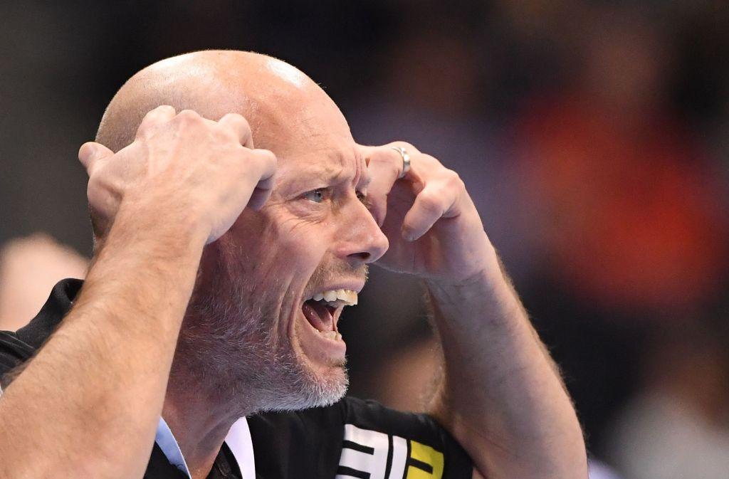 Hatte bei seinen Göppingern einiges zu bemängeln: Frisch-Auf-Trainer Magnus Andersson. Foto: dpa