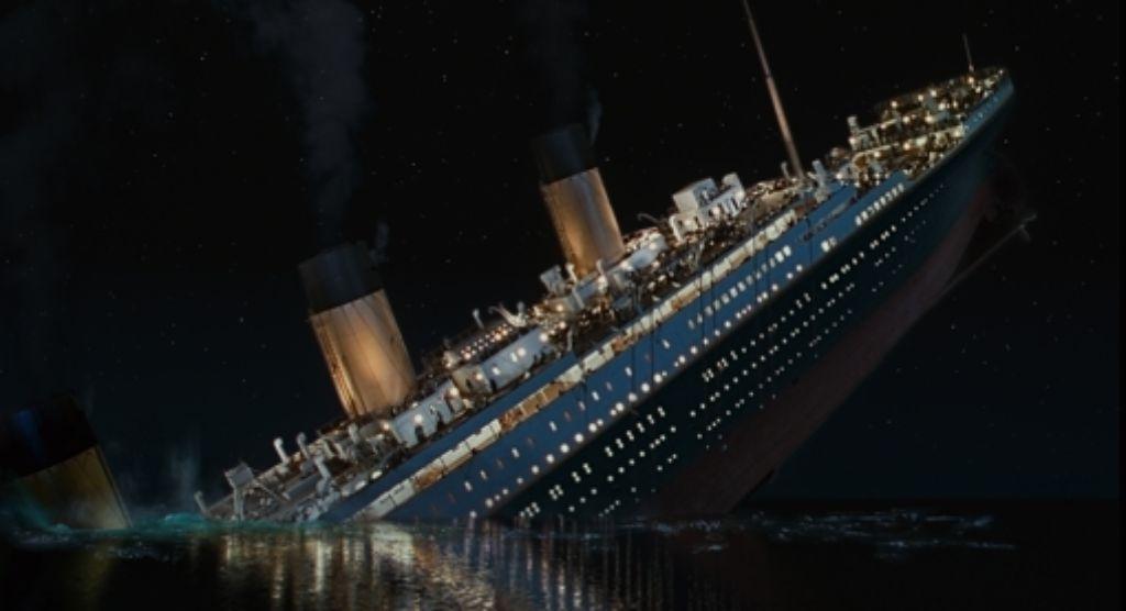 Das wohl bekannteste Schiffsunglück aller Zeiten: der Untergang der Titanic, der Anfang April in 3D auf die Kinoleinwände zurückkehrt. Foto: dapd
