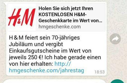 Fake-Kettenbrief verspricht H&M-Gutschein