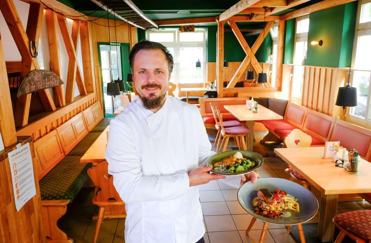 Der Koch Manuel Lauble kocht gut und schwäbisch. Foto: Lichtgut/Max Kovalenko