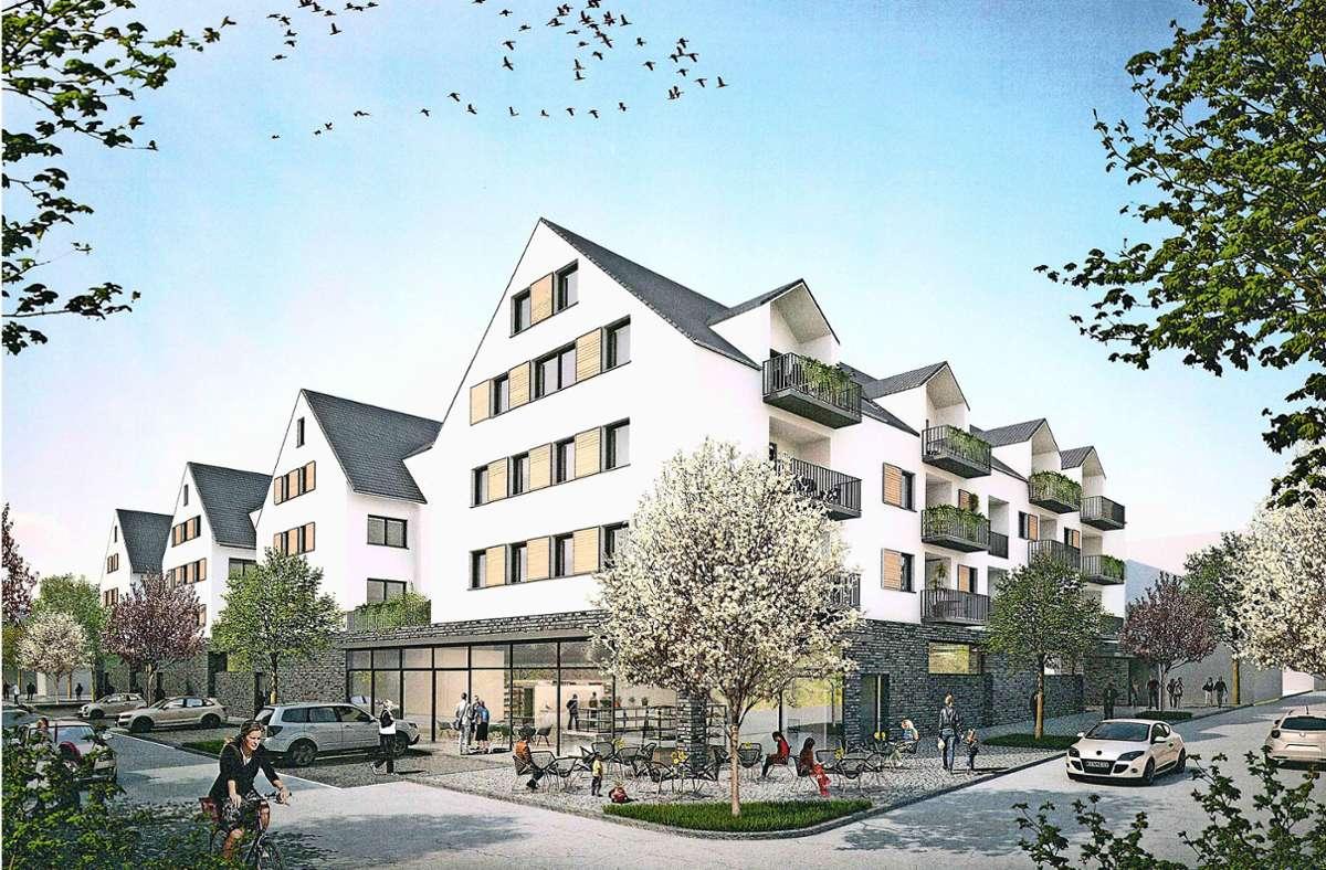 So soll es in wenigen Jahren an der Ecke Stuttgarter und Kronenstraße aussehen. Foto: Architekturbüro Ludmann