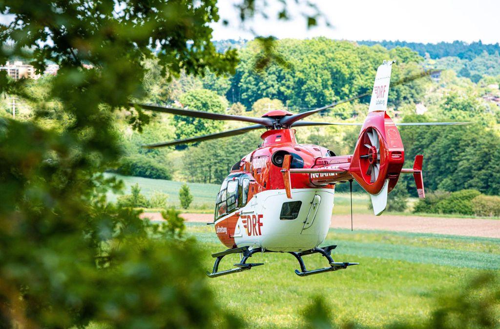 Am Donnerstagnachmittag landete in Böblingen ein Rettungshubschrauber. Foto: 7aktuell.de/Marc Gruber