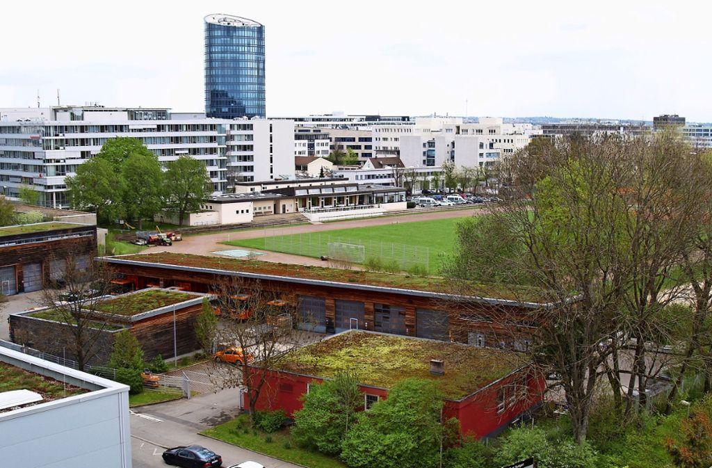 Wegen des geplanten Allianz-Neubaus müssen der Bauhof und die AWS an der Liebknechtstraße ausziehen. Foto: Rüdiger Ott
