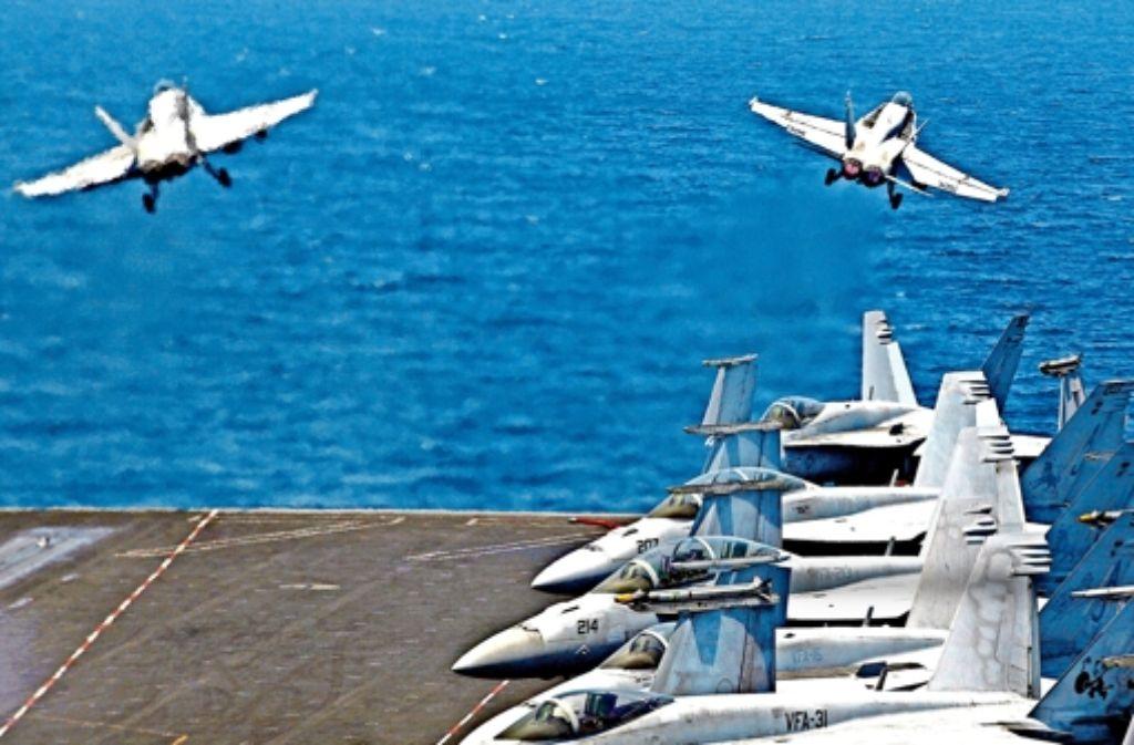 Amerikanische Kampfjets könnten schon bald Angriffe auf Syrien fliegen – drei Jahre nach dem Ausbruch des Bürgerkrieges. Foto: AP