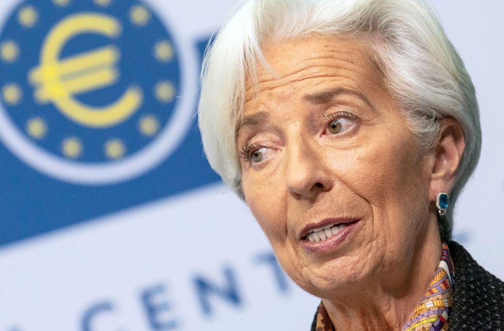 Steht seit November an der Spitze der  Europäischen Zentralbank: Christine Lagarde. Foto: dpa