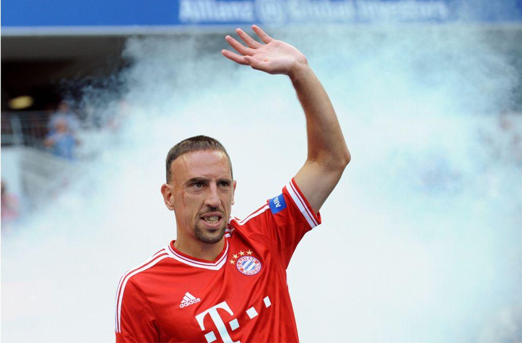 Seit 2007 spielt Franck Ribéry im Trikot von Bayern München. Jetzt nimmt er Abschied. Foto: dpa