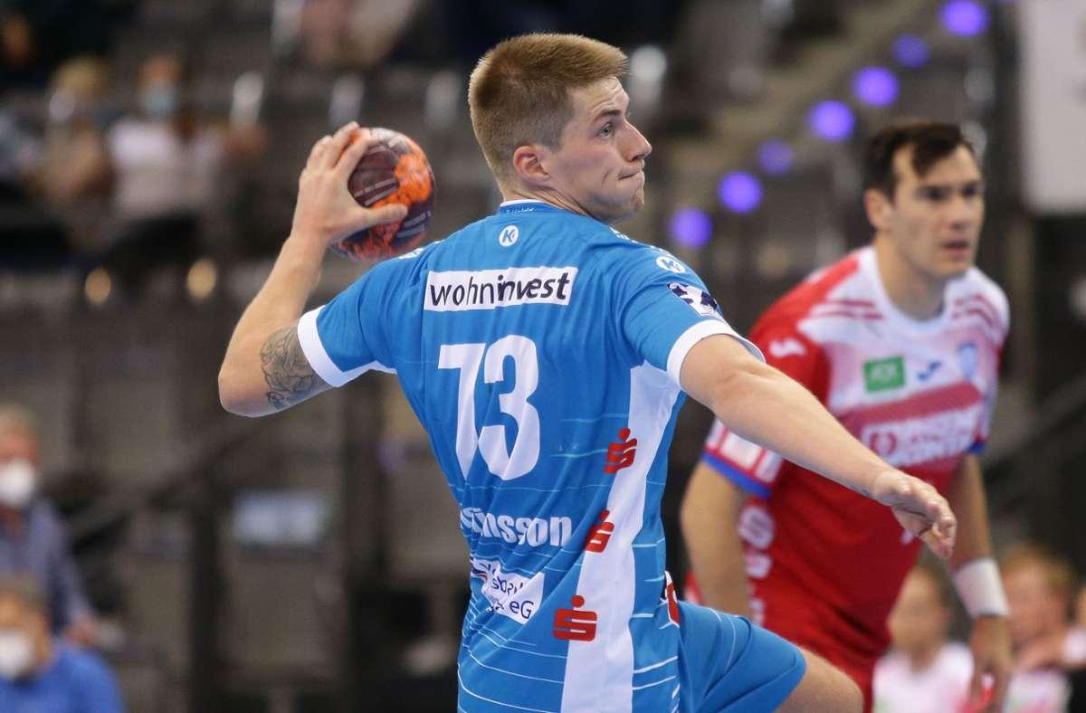 Viggo Kristjansson: Seine elf Tore reichen dem TVB Stuttgart in Flensburg nicht zu einem Punktgewinn. Foto: Baumann