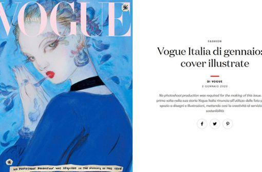 """""""Vogue"""" verzichtet  auf Fotos – aus gutem Grund"""