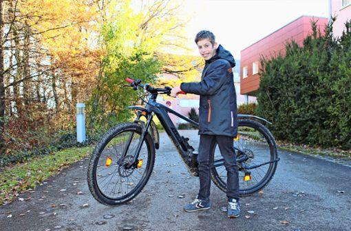 Endlich hat Felix sein E-Bike