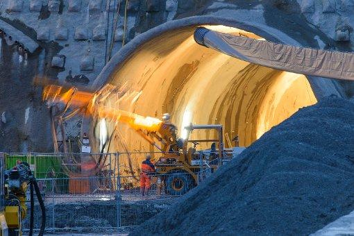 Der Fildertunnel am Fasanenhof im Februar