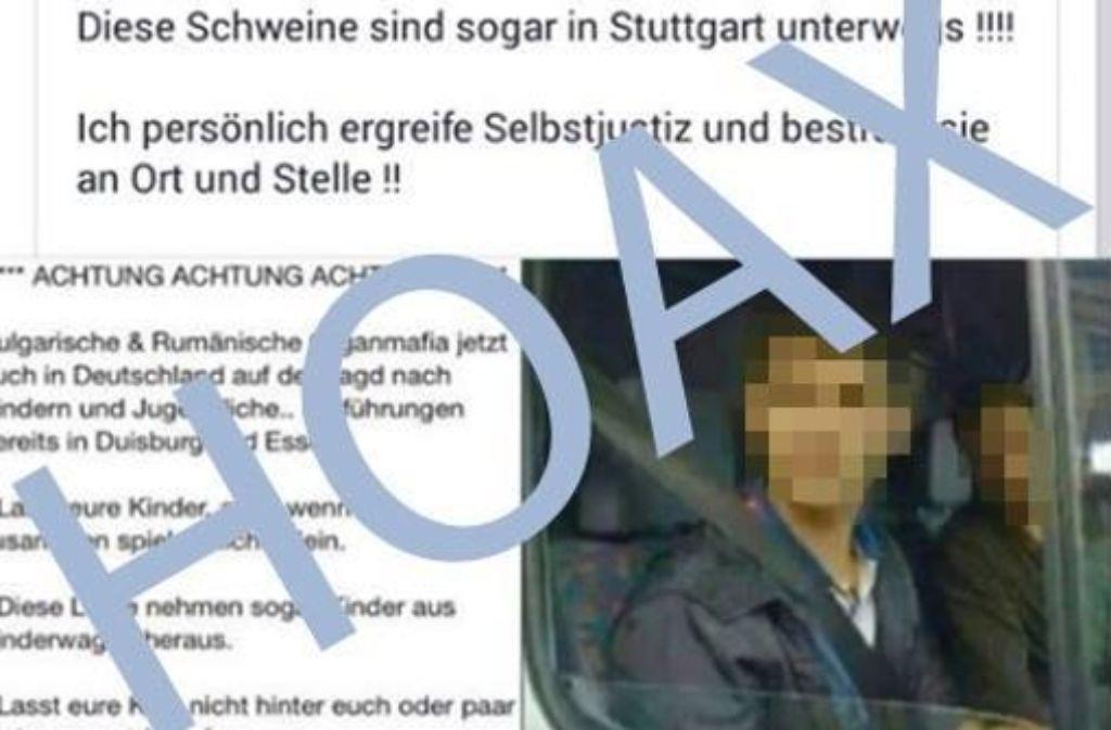 Männer warten in einem Lieferwagen darauf, Babys zu entführen? Alles Blödsinn, sagt die Polizei. Foto: Polizei Stuttgart