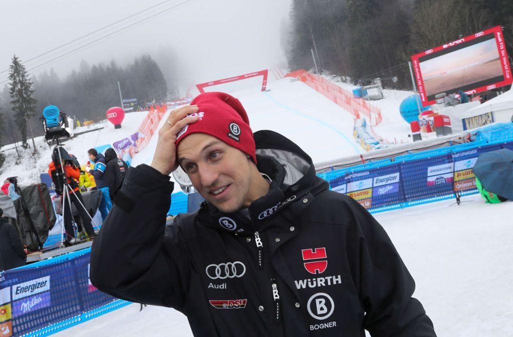Platz sechs beim WM-Super-G: Josef Ferstl ärgert sich nur kurz. Foto: dpa