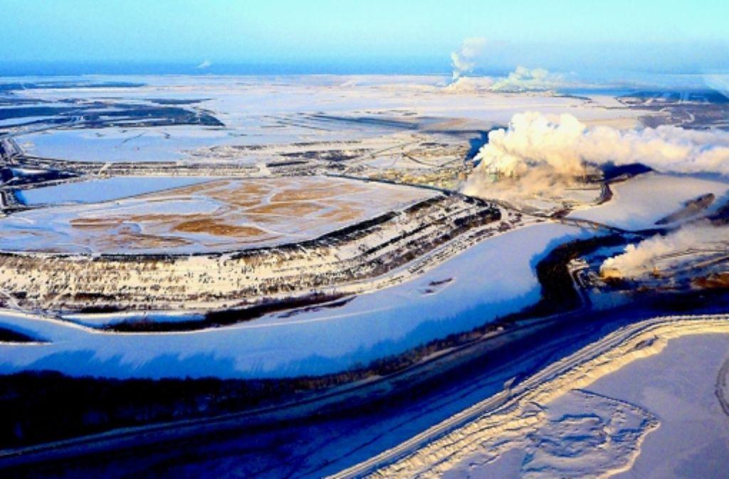 Eine Bitumenfabrik in Nordkanada. Foto: Jane Kirk (Environment Canada)