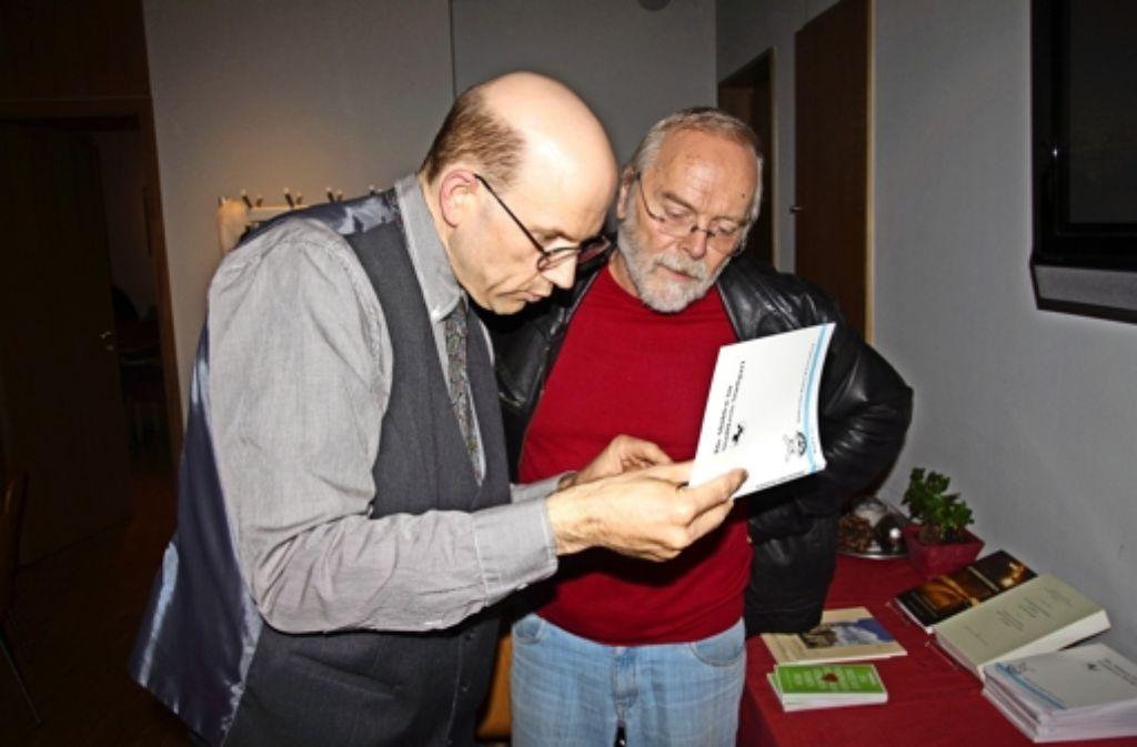 Achim Bonenschäfer (links) hat im Muse-O gesprochen. Foto: Ralf Recklies