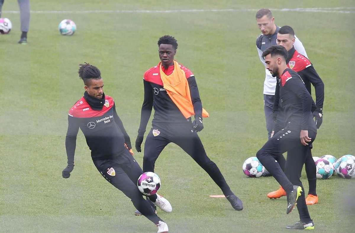 Voller Einsatz beim Training des VfB Stuttgart Foto: Pressefoto Baumann/Alexander Keppler