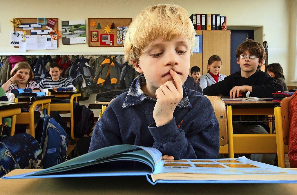 Lesenlernen muss sein, auch wenn das manchen Kindern schwer fällt. Foto: dpa